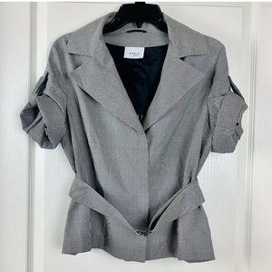 AKRIS Punto Houndstooth Belted Blazer Jacket